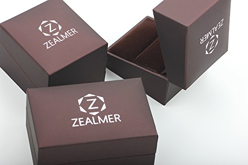 Zealmer Men's Classic Black Titanium Steel Ring Plain Wedding Band Ring Polished Charm Matte Finished 9