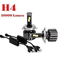 Car Light,LandFox H4 HB2 80W 8000LM COB LED Headlight Kit Hi/Lo Beam Bulbs 6000K