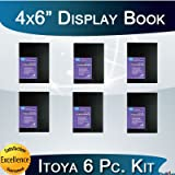 Itoya Art Profolio Advantage 4x6 Inch Presentation Display Book 6 Pack Kit + Photo4less Cleaning Cloth