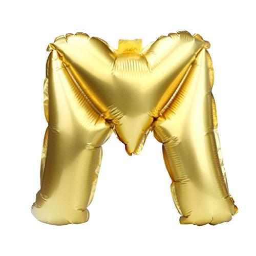 Rumas 40'' DIY A to Z Alphabet Foil Ballon, Reusable Inflatable Non-Toxic Ballon, Wedding Decor, Party Supplies, Toys & Games (M)
