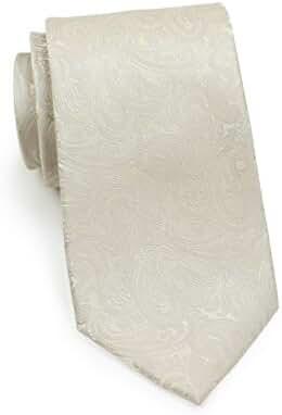 Formal Cream Paisley Wedding Tie in Pure Silk