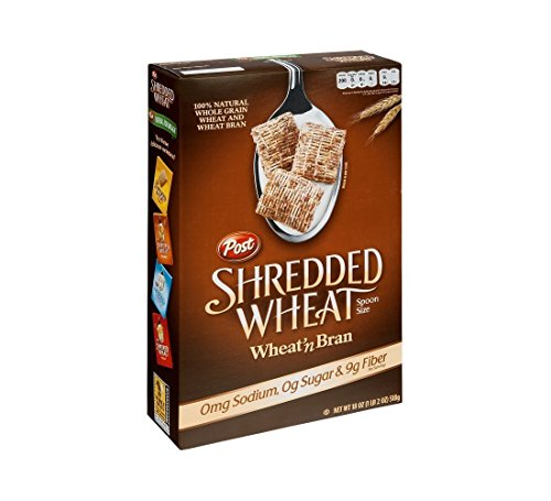 Post Shredded Wheat and Bran Cereal 18 oz (Pack of 10) (Best Wheat Bran Cereal)