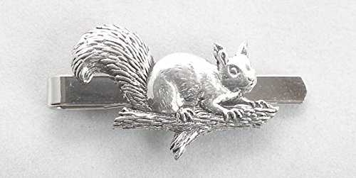 Squirrel on Branch Pewter Tie Slip (Gift Boxed)