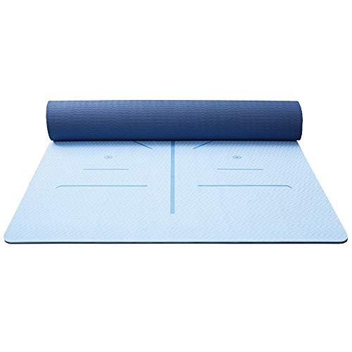 LULIN Yoga mat widening 80cm Fitness, Balance Posture – Yoga mat, Carry Handle for Pilates/Exercise/Gymnastics