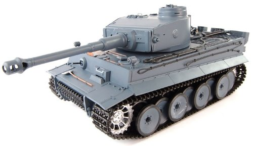 Smoking 1:16 RC Tank German Tiger I Panzer w/. Engine Sound & Airsoft Gun ()
