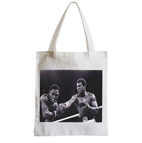 Große Tasche Sack Einkaufsbummel Strand Schüler mohamed erste KO Boxing Minuten
