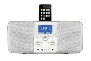 Boston Acoustics Duo-I Plus iPhone/iPod Dock AM/FM Stereo Radio and Clock Functions (Gloss White) (Discontinued by Manufacturer)