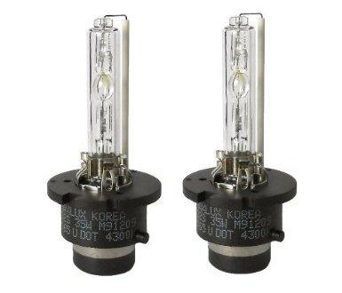 MAXLUX Power Vision HID Xenon Bulbs D2S (1 Pair, Super Bright White /+60%)