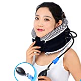 Neck Traction Device + Washable Cover | CHISOFT Cervical Neck Stretching Device Improve Spine Alignment to Reduce Neck Pain