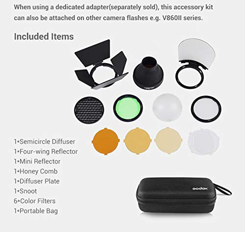 Godox AK-R1 Super Accessory Kit Honeycomb Snoot Diffuser and Filters Compatible AD200 H200R Camera Portable Flash by Godox (Image #2)