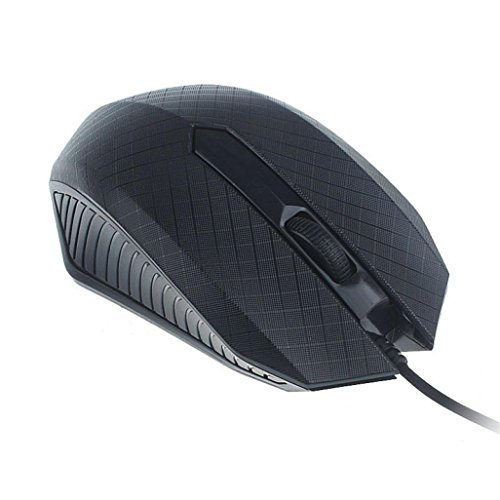 [DaySeventh 2017 Optical USB Wired Mouse Durable Mice For PC Laptop Computer] (Ups Package Costume)