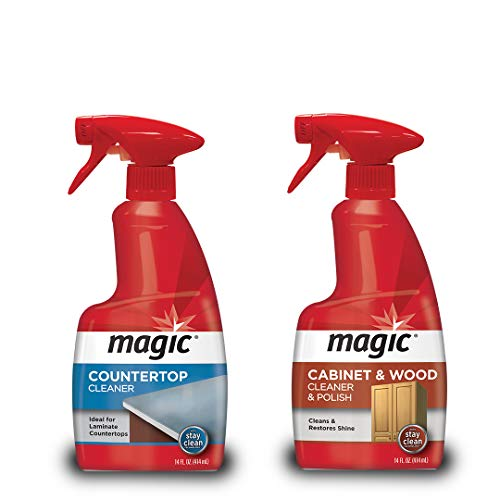 (Magic Wood Cabinet and Countertop Cleaner & Polish - Cleans & Restores Shine to Wood Surfaces and Countertops)