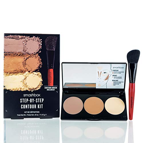 SmashBox Step By Step Contour Kit With Light Medium Brush, Brown, 4 Ounce from Smashbox
