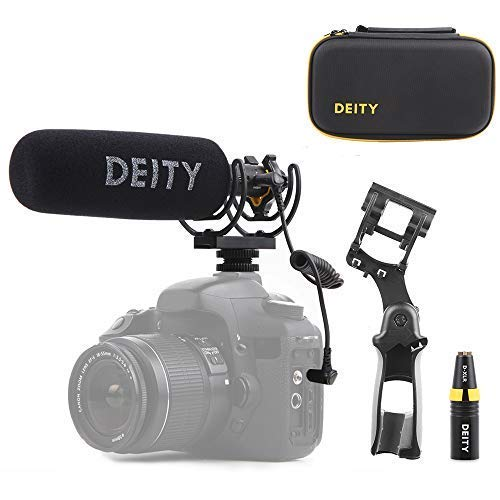 Deity V-Mic D3 Pro Location Kit Super-Cardioid Directional Shotgun Microphone with Rycote Duo-Lyre Shock Mount and PERGEAR Cloth for DSLRs, Camcorders, Smartphones, Tablets, Handy Recorders, Laptop by Deity