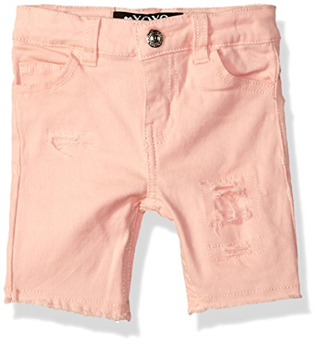 XOXO Girls' Toddler Stretch Twill Bermuda Short, Relaxing Peach, 2T