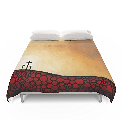 Society6 Forgiven - Christian Art By Sharon Cummings Duvet Covers King: 104'' x 88'' by Society6