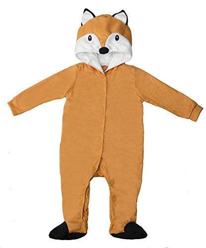 Etsy Halloween Costumes Baby (Brown Fox Baby Polyester Knit Halloween Costume, Size 6-9mth)