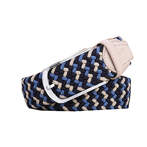 Belt Youth Standard - Men's Canvas Belts Elastic Woven Belts Women's Casual Versatile Belt Men's Pin Buckle Youth Simple,F