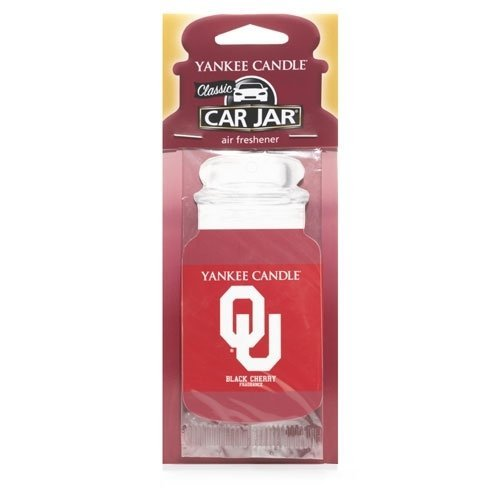 University Of Oklahoma (Black Cherry) Collegiate Car Jar Air Freshener - Yankee Candle (Air Collegiate)