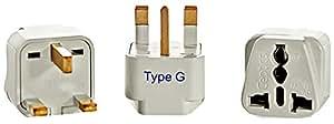 Ceptics GP-7-3PK UK, Hong Kong Travel Plug Adapter (Type G) - 3 Pack [Grounded & Universal]