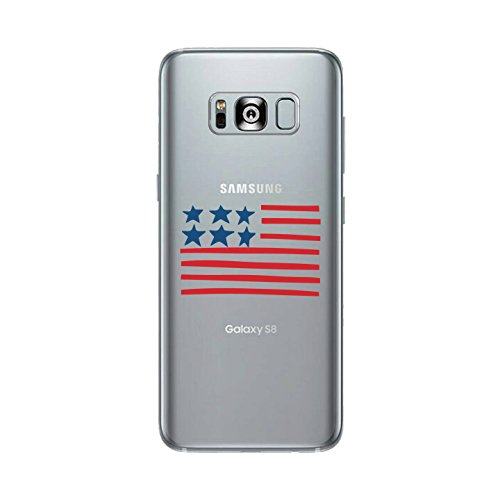 365 Printing USA Flag Clear Phone Case For Samsung Galaxy S8 Cute Patriotic - Gif Usa