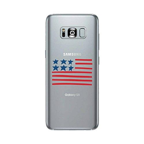 365 Printing USA Flag Clear Phone Case For Samsung Galaxy S8 Cute Patriotic - Usa Usa Usa Gif