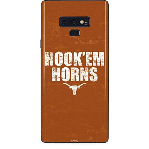Skinit Texas Longhorns Hook Em Galaxy Note 9 Skin - Officially Licensed University of Texas at Austin Phone Decal - Ultra Thin, Lightweight Vinyl Decal Protection ()