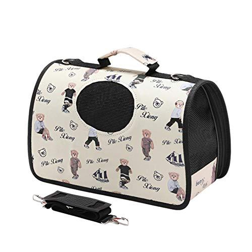 cola-site Breathable Single Shoulder Bag for Pet Cat Dog Teddy Outdoor Travel,Burgundy,M ()
