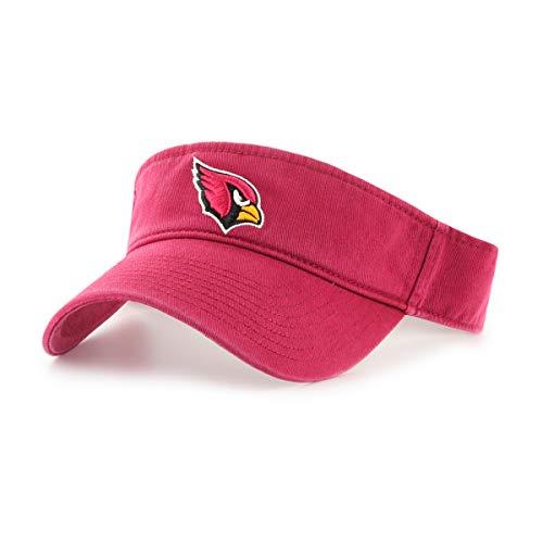 Cardinal Visor - OTS NFL Arizona Cardinals Male Visor, Dark Red, One Size