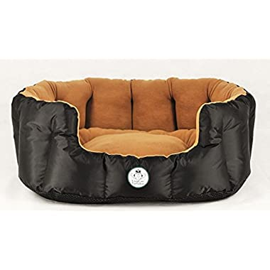 Loving Care Pet Products Ultra Supreme XL 30 inch 77 cm Pet Bed, Dog Bed, Cat Bed. Super Plush, Thermal, Water, Wind, Oil and Urine Resistant, Durable, High Reinforced Sides, Heavy Duty Non Skid Bottom. Top Quality, Non Allergenic Materials. Machine Washable. Removable/Reversible pillow mattress. All Season, All Weather DOG, CAT, KITTEN and PUPPY Pet Bed. Five Sizes to Fit Most Pets.