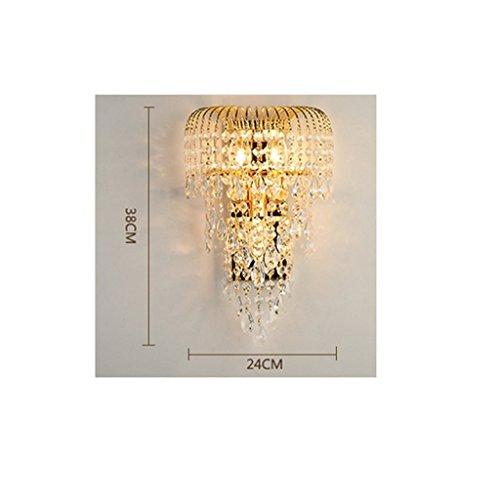 MOMO Luxury K9 Crystal Wall Lamp Led Gold Living Room Bedroom Bedside Dining Room Wall Lamp European Lighting by MOMO (Image #6)