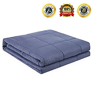 Kpblis Weighted Blanket Gravity Sensory Heavy Throw Cotton Cozy Bed Blankets Adults Kids for Calming Comfort Deeper Better Faster Sleep Reduce Stress Anxiety Relaxing Muscles Nervous System by Kpblis