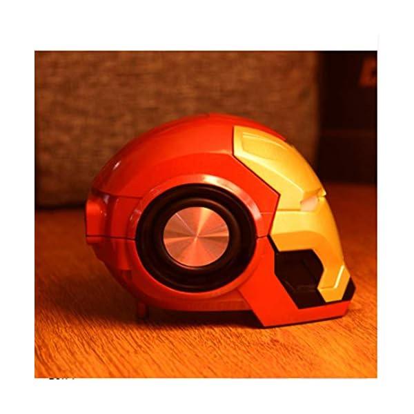 Mini Haut Parleurmini Iron Man Haut-Parleur sans Fil Puissant Enceintes Portables Ordinateur Cadeau Novateur Pratique Radio Musique 2