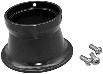 50ミリメートル エアフィルター インターフェース カップ 24/26/28 / 30mm オートバイ キャブレター用 全5色選べる - 黒