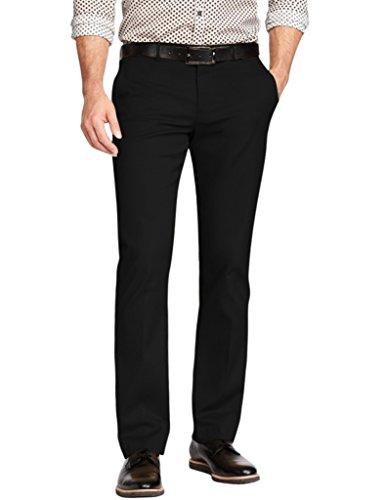 Match Men's Straight-Fit Work Wear Casual Pants(30W x 31L, 8033 Black)