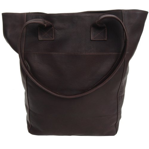Piel Leather Xl Shopping Bag, Chocolate, One Size