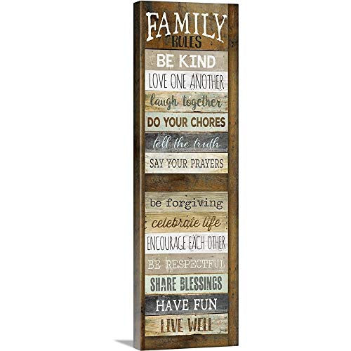 Wrap Shutter (Marla Rae Premium Thick-Wrap Canvas Wall Art Print Entitled Family Rules Shutter 20