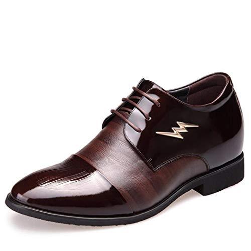 Renforcées Chaussures Brown Bottes Noir À Verni 43 Du Des couleur Taille De Cuir Invisibles Pour Mariage Augmentation L'intérieur En Flysxp Hommes Nombre FIq11O