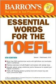 Essential Words for the TOEFL 4th (fourth) edition Text Only