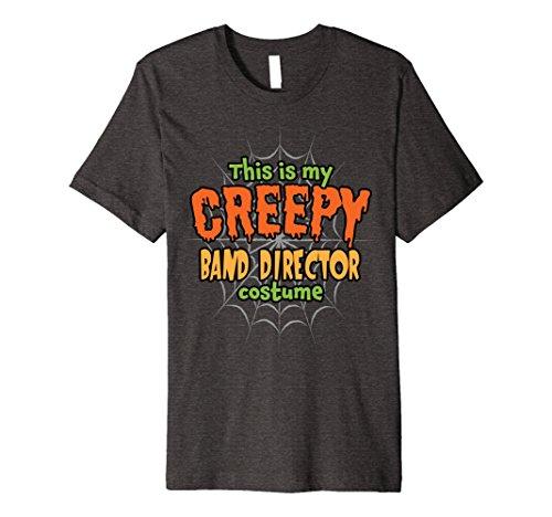 Band Director Halloween Costume (Mens Creepy Band Director Costume Premium Halloween T-Shirt XL Dark Heather)