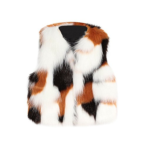 Baby Kids Girl Autumn Winter Faux Fur Waistcoat Thick Coat Warm Outwear Clothes