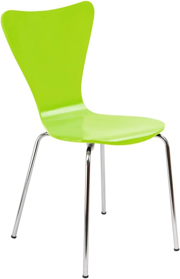 Legare Bent Plywood Chair, Lime Green