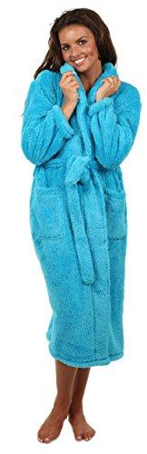 icrofiber Fleece Bathrobe-Pacific Blue- Large, Long ()