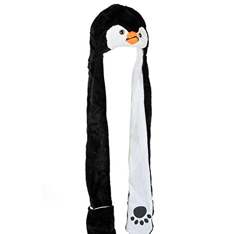 35'' PLUSH PENGUIN HAT WITH LONG PAWS, Case of 24