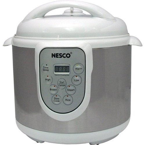 Nesco – 6-Quart Stainless Steel Pressure/Slow Cooker and Steamer