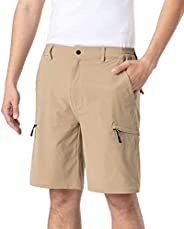 CFNONWA Men's Cargo Shorts Quick Dry Outdoor Hiking Work Golf Shorts with 6 Poc