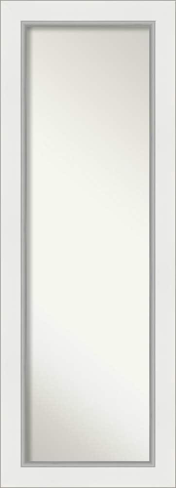 Amanti Art Full Length Mirror   Eva White Silver Mirror Full Length   Full Body Mirror   On The Door Mirror 19.25 x 53.25 in.