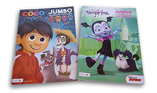 Lazy Days Halloween Kids Coloring Book Set - Coco and Vampirina for $<!--$8.99-->
