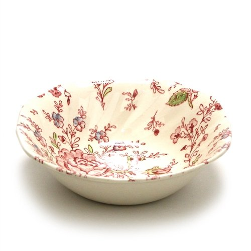 (Rose Chintz by Johnson Bros, China Coupe Cereal Bowl)