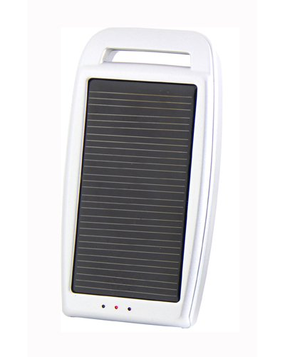 Concept Green Energy Solution CGS1250-W 1250-mAh Portable Solar Assist Charger with LED Indicator, White